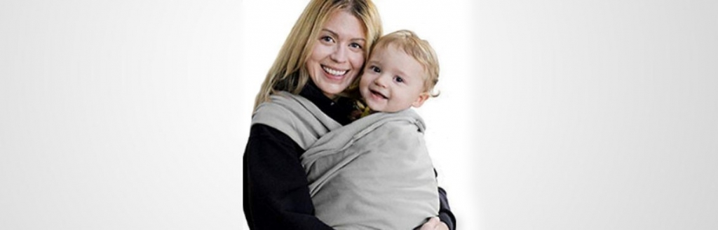 Stretchy knitted baby sling